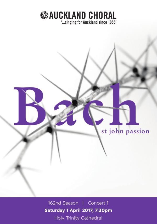 2017 Concert Series St. John Passion