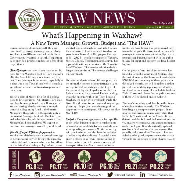 Waxhaw News March_April 2017