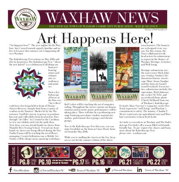 Waxhaw News - The Official Community Publication - Waxhaw, NC Waxhaw News May_June 2017