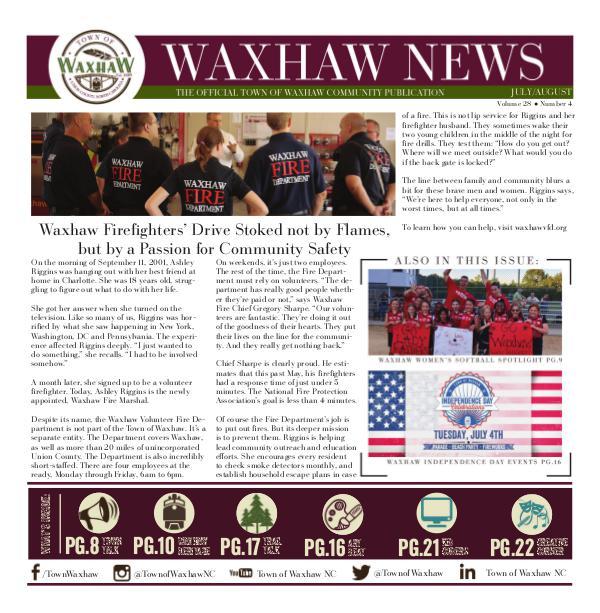Waxhaw News July_August 2017