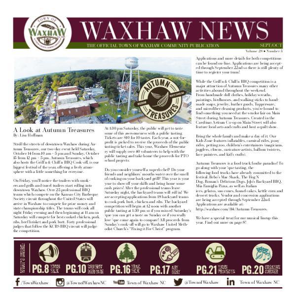 Waxhaw News Sept_Oct 2017