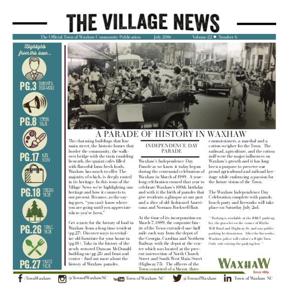 The Village News July 2016