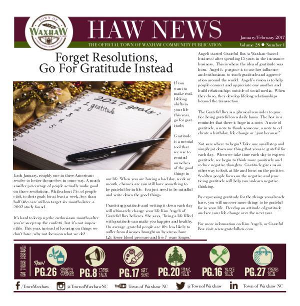 Waxhaw News Jan_Feb 2017