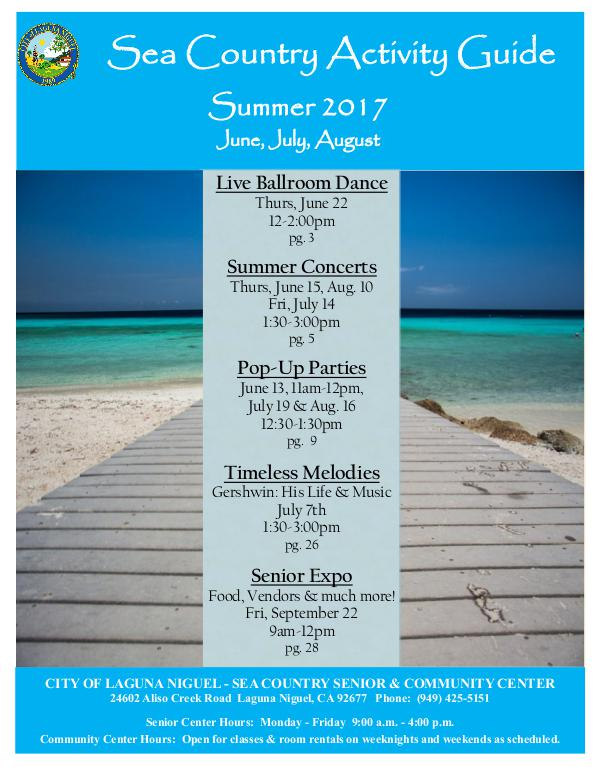 Sea Country Activity Guide Summer 2017