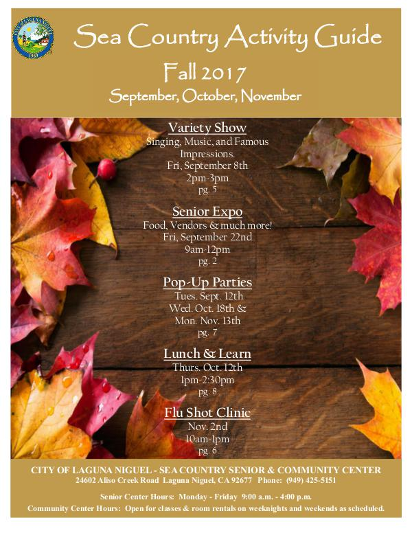 Sea Country Activity Guide Fall 2017
