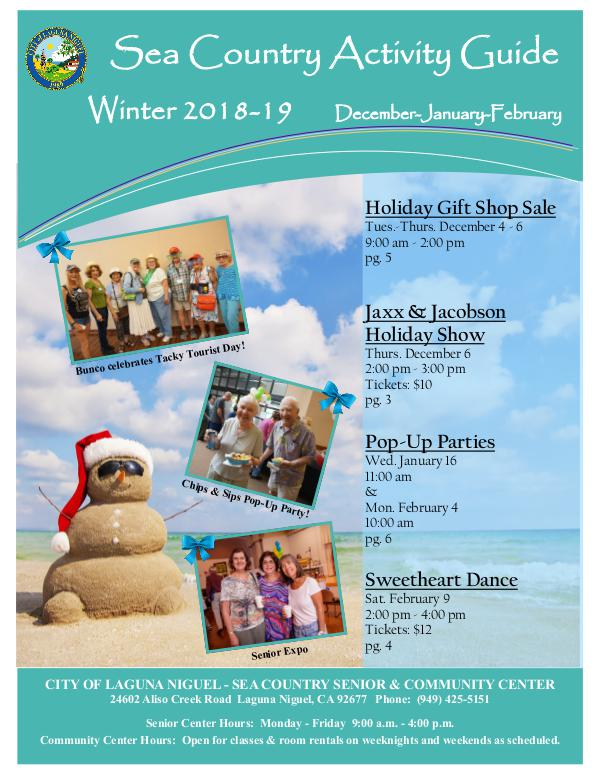 Sea Country Activity Guide - Winter 2018-2019