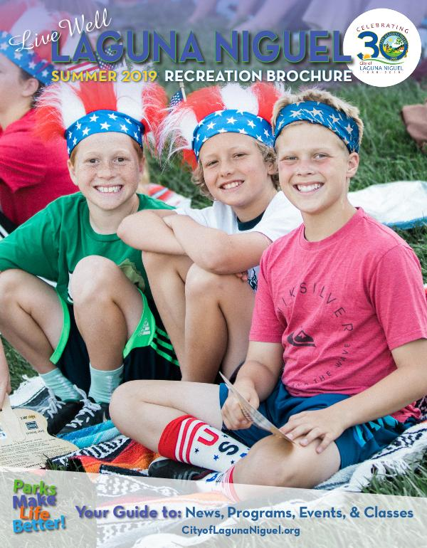 City of Laguna Niguel Recreation Brochure Summer 2019 Recreation Brochure