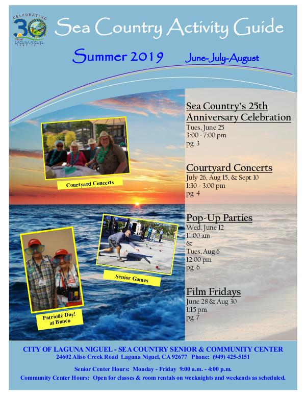 Sea Country Activity Guide - Summer 2019