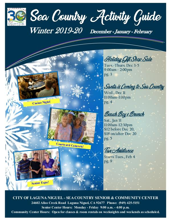 Sea Country Activity Guide-Winter 2019/2020