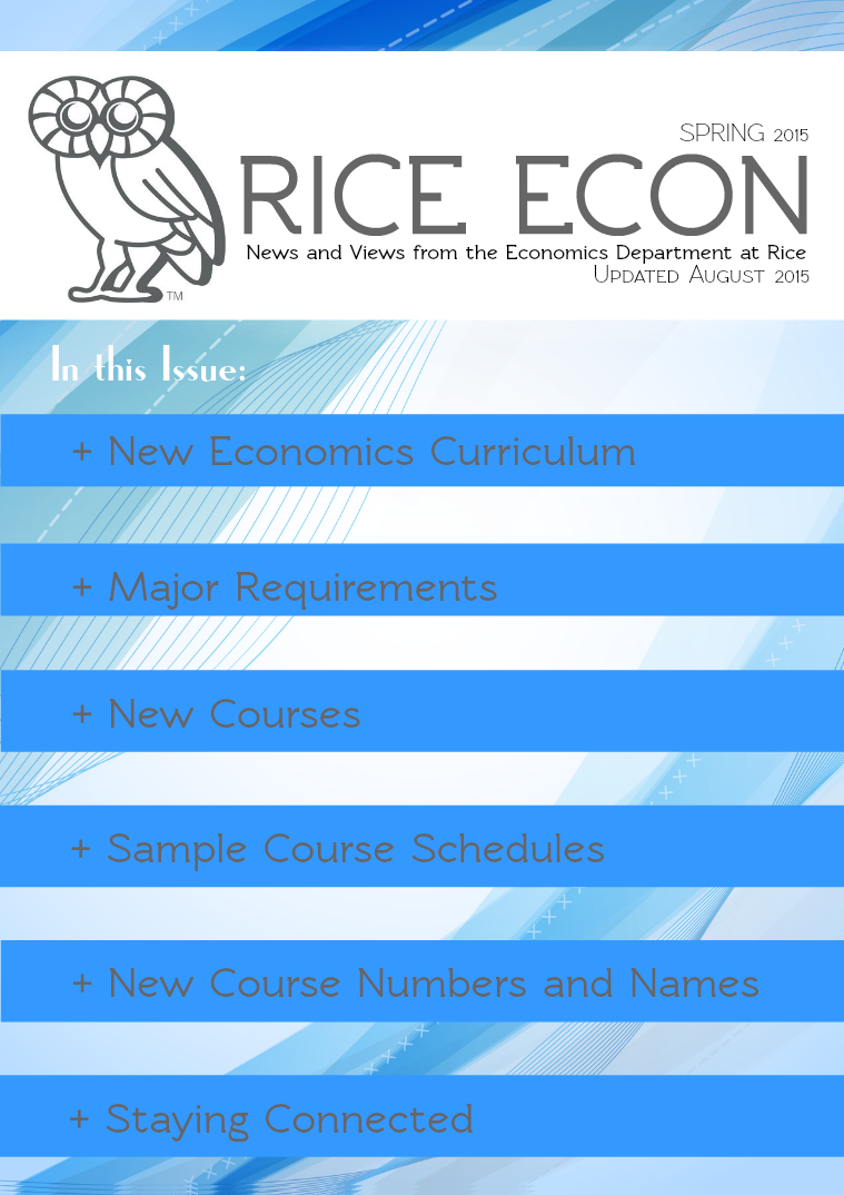 Spring 2015 New Curriculum Announcement