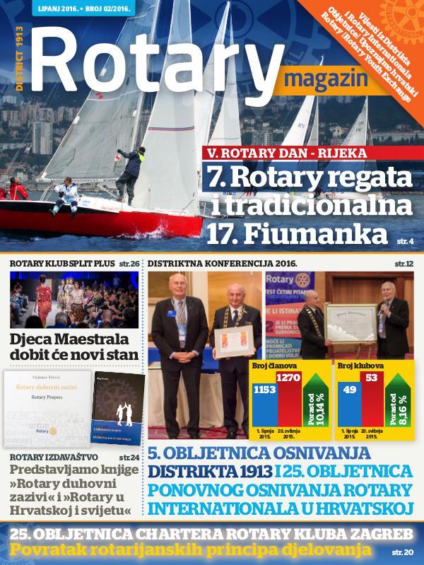 Rotari Magazin Rotary magazin - svibanj, lipanj 2016