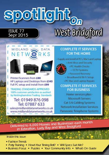 Spotlight Magazine for West Bridgford Sept 2015