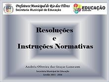 Resoluções e Instruções Normativas