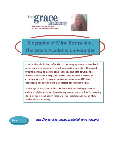 Biography of Mimi Rothschild, The Grace Academy Co-Founder CEO