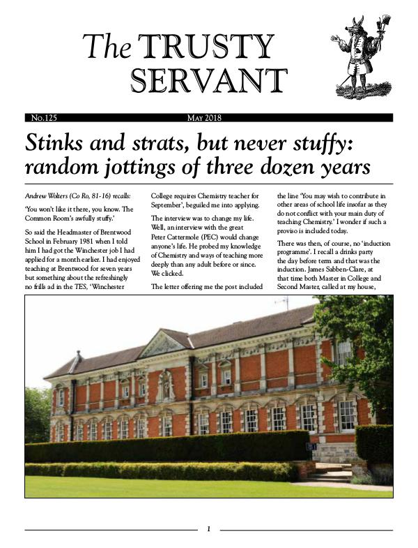 Trusty Servant May 2018 No. 125