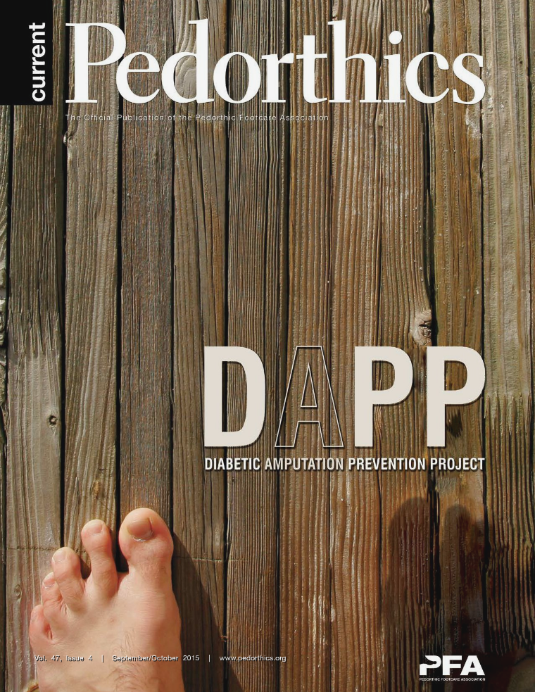 Current Pedorthics September/October 2015 - Vol. 47, Issue 4