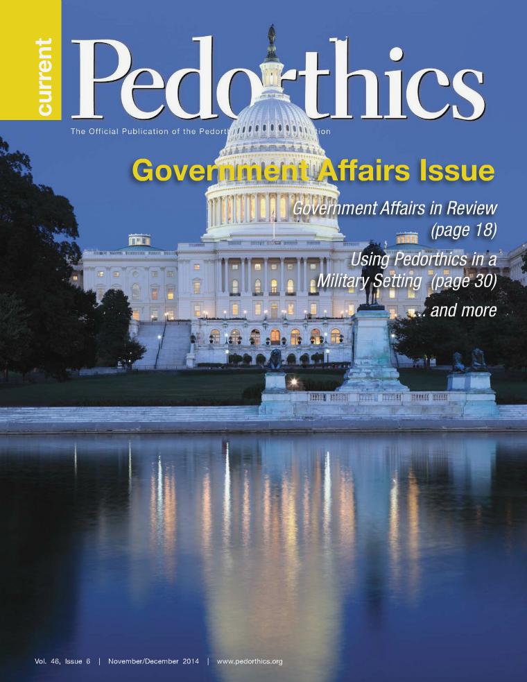 Current Pedorthics November/December 2014 - Vol.46, Issue 6