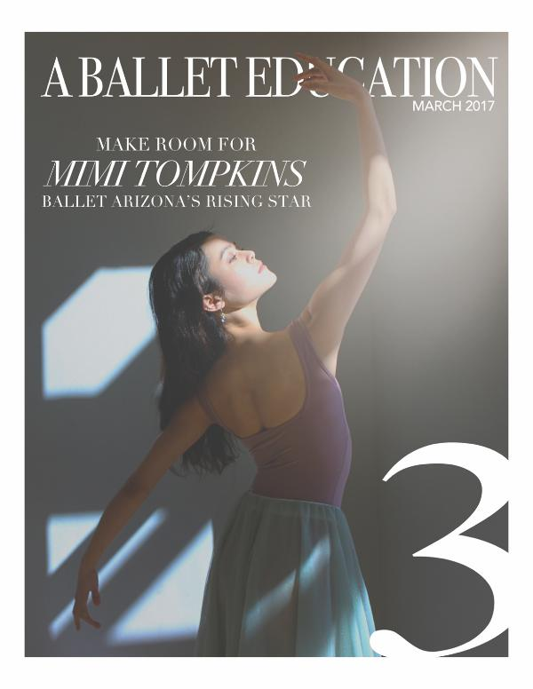 a Ballet Education ISSUE 3 |  SPRING 2017