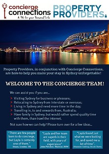 Property Providers and Concierge Connections joint venture