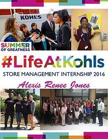 Kohl's Store Management Internship 2016