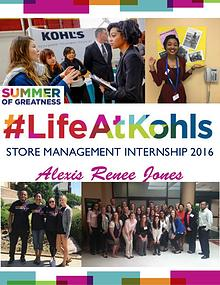 Kohl's Store Management Internship 2016