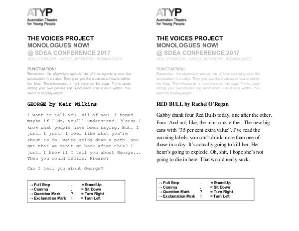 ATYP @ SDEA: The Voices Project ATYP_THEVOICESPROJECTHANDOUT