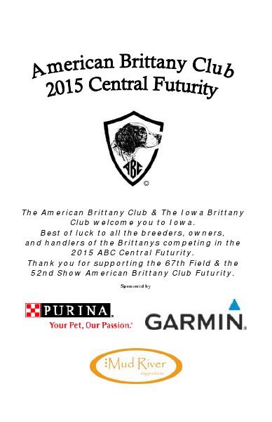 2015 American Brittany Club Central Futurity 2015