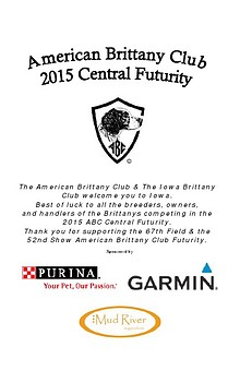 2015 American Brittany Club Central Futurity