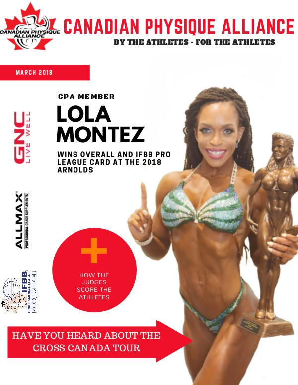 CANADIAN PHYSIQUE ALLIANCE MARCH || ISSUE 32