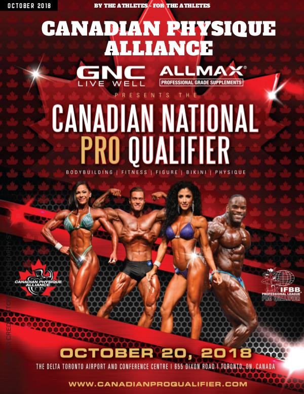 CANADIAN PHYSIQUE ALLIANCE October Magazine