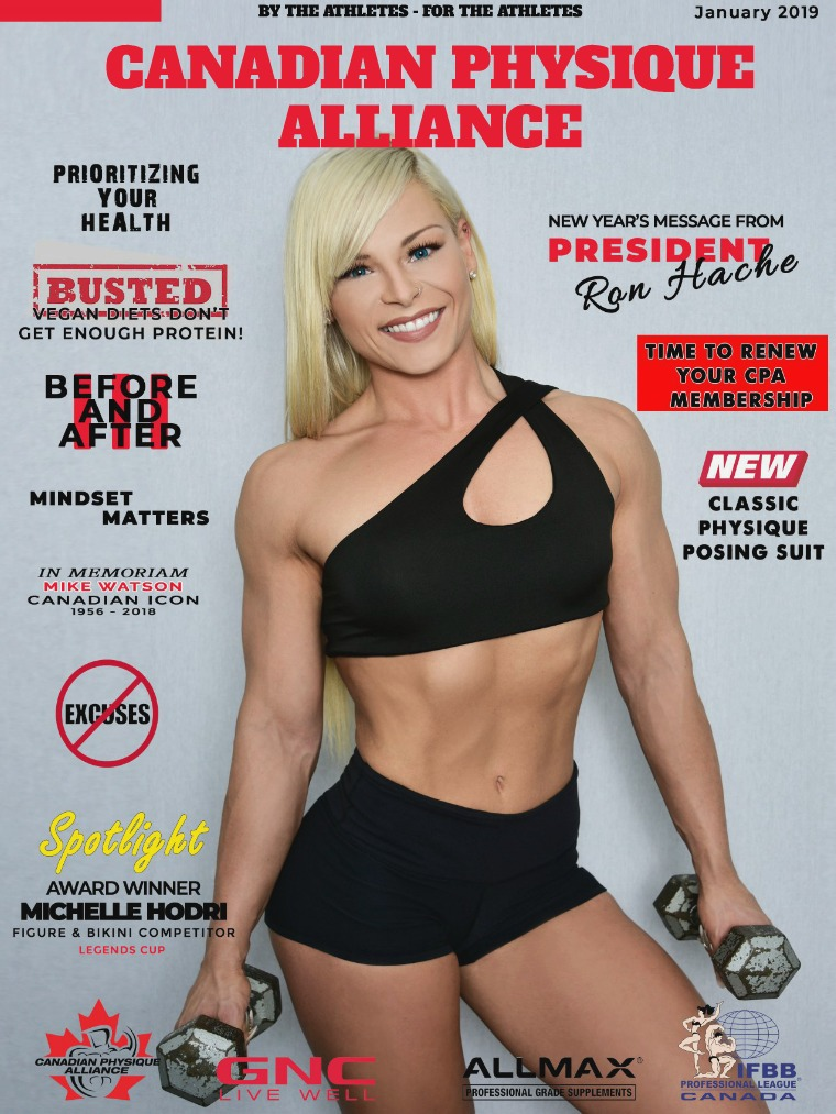 CANADIAN PHYSIQUE ALLIANCE JANUARY Magazine