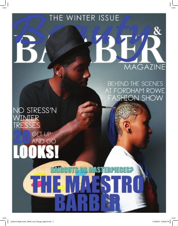 Beauty and Barbers Magazine Nubian Entertainment_Winter Issue 36 page reduced