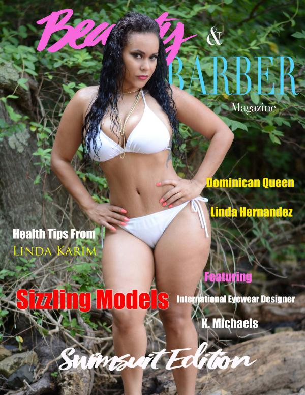 Beauty and Barbers Magazine SWIMSUIT ISSUE COVER MODEL LINDA HERNANDEZ