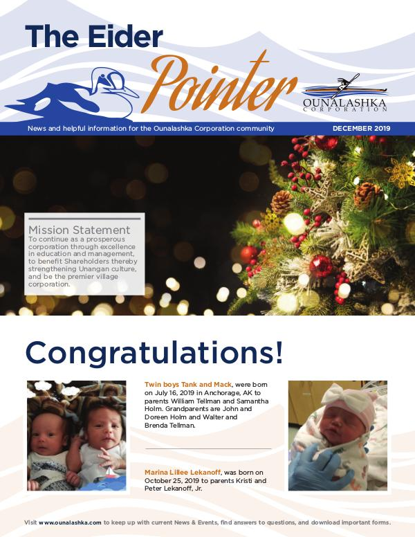 December Eider Pointer E_Newsletter_December2019_final
