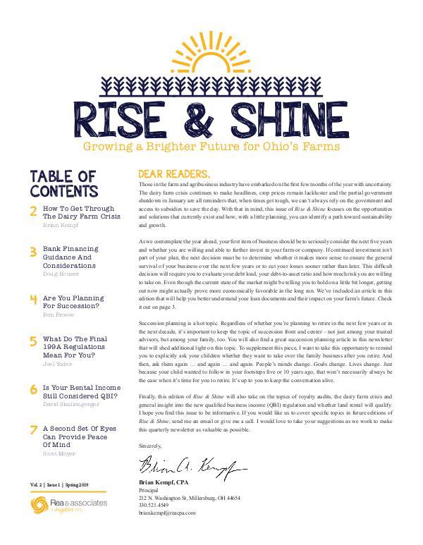 Rise & Shine Spring 2019