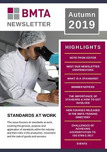 BMTA Newsletter - Autumn 2019