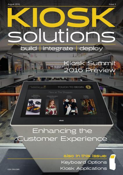 Kiosk Solutions Aug-Sept 2016