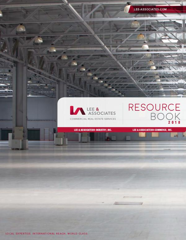 Lee & Associates Vendor Resource Book 2018 Resource Book