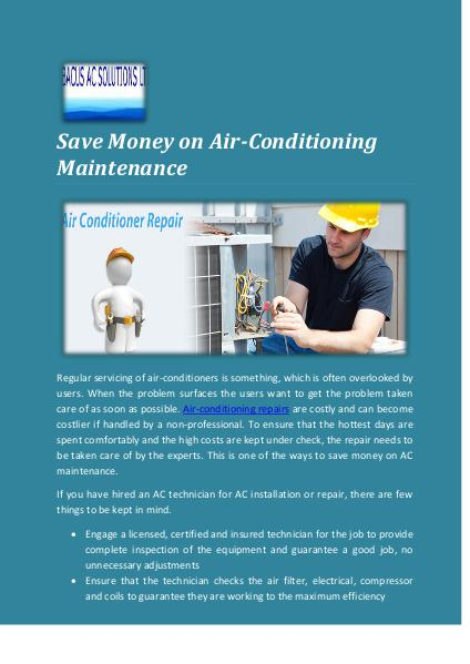 Abacus AC Solutions Ltd HVAC Maintenance Contracts for Effective Air Condi