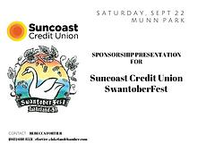 Sponsor Presentation for Suncoast Credit Union SwantoberFest