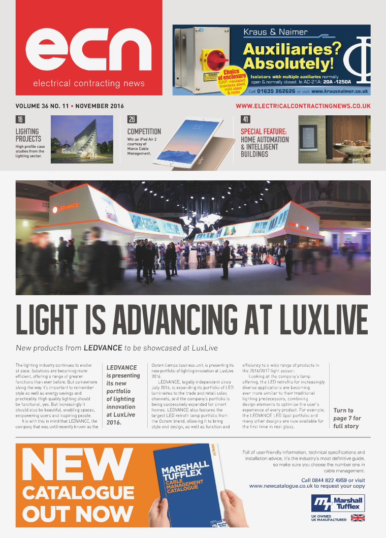 Electrical Contracting News (ECN) November 2016