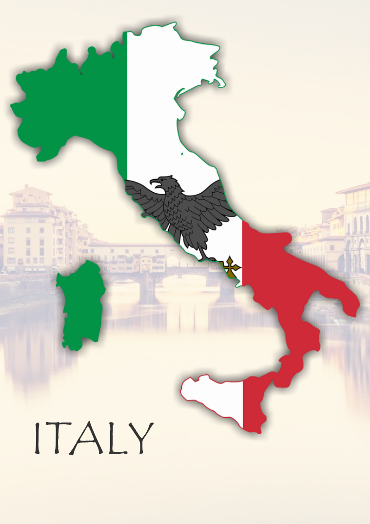World, Country, City Italy