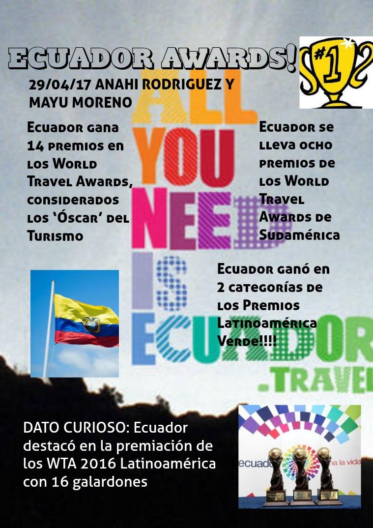 premios de ecuador THE BEST