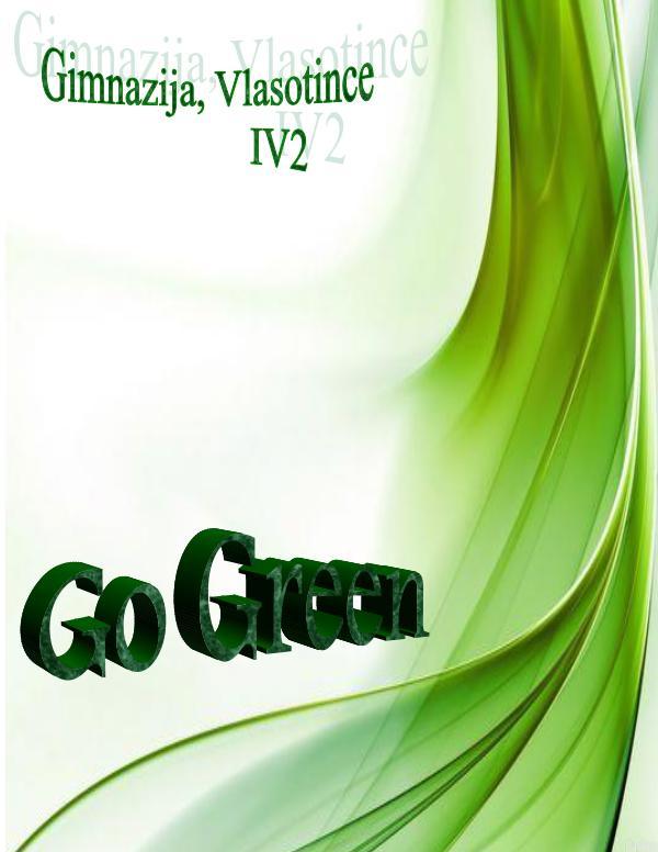 GO GREEN Go Green magazine