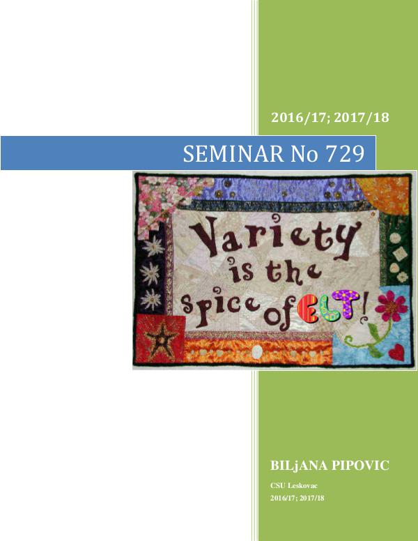 Variety as the Spice of ELT 2016/17