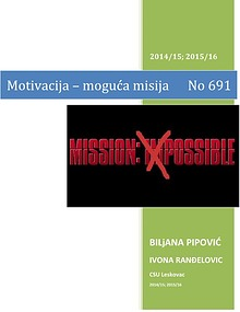 Motivacija - moguca misija