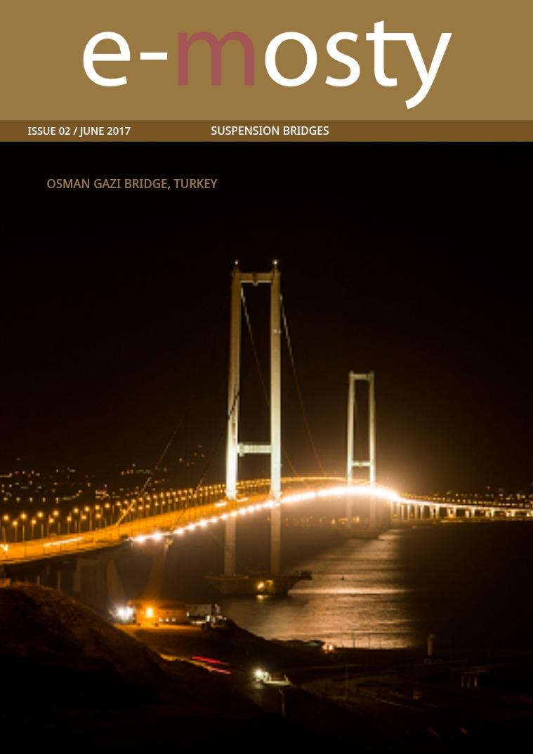 e-mosty June 2017: Osman Gazi B. US Suspension. Hålogaland B. e-mosty June 2017: Suspension Bridges