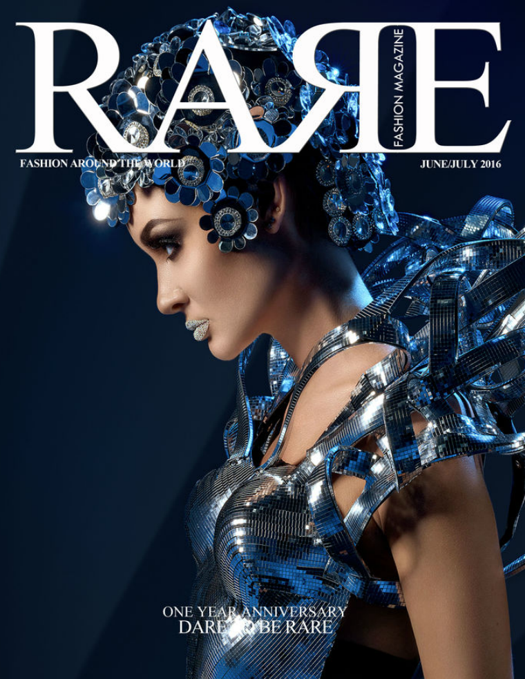 Rare Fashion Magazine June/July 2016  One Year Anniversary June/ July 2016  One Year Anniversary