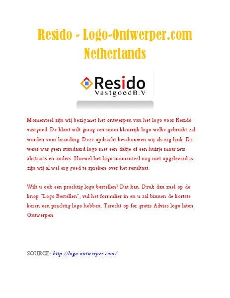 Resido - Logo-Ontwerper.com Netherlands logo maken