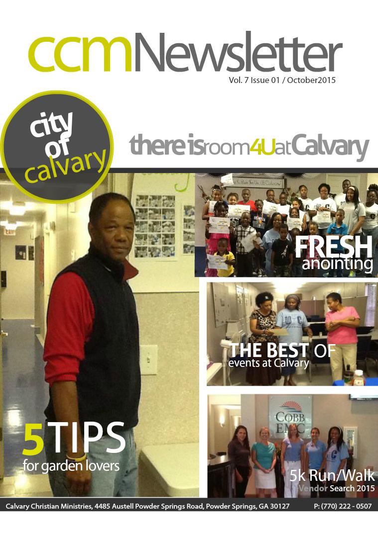 CCM Newsletter Vol. 7 Issue 01 / October 2015